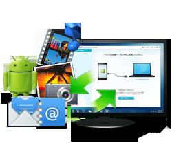 Android携帯電話のメールをパソコンに取り込む方法